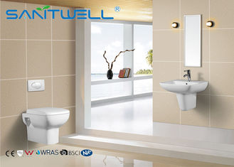 Bathroom Wall Hung Basin White Standing Ceramic Half Semi Pedestal Sink