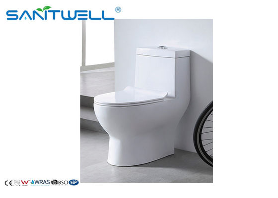 Sanitary Ware One Piece Toaleta, Wall Mounted WC Dual Flush Mechanism