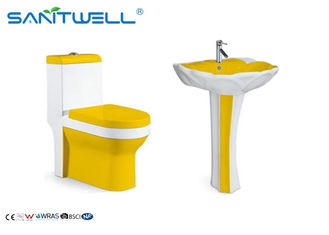 SWC211 Bathroom Toilet Suites 700 * 370 * 800 Mm / Ceramiczna toaleta do salonu